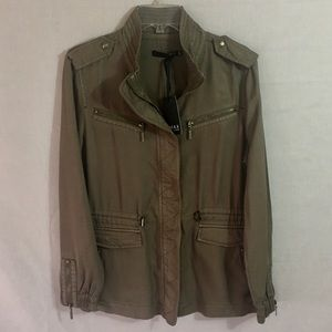 Max Jeans Green Tencel Utility Military Jacket